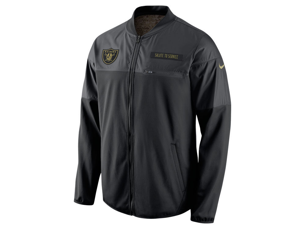 Oakland Raiders Nike NFL Men s Salute to Service Hybrid Jacket ... 033350b28