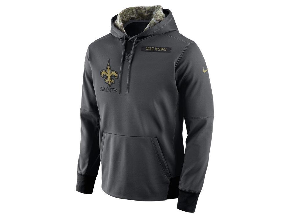 New Orleans Saints Nike NFL Men s 2016 Salute to Service Hoodie ... e82d53b81