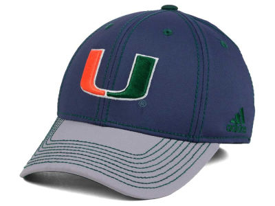 Miami Hurricanes adidas NCAA Darkness Flex Cap