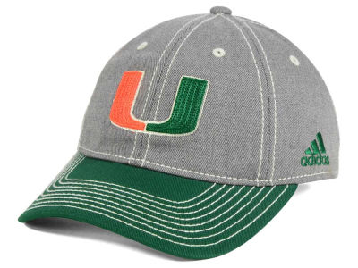 Miami Hurricanes adidas NCAA Shadow Slouch Adjustable Cap