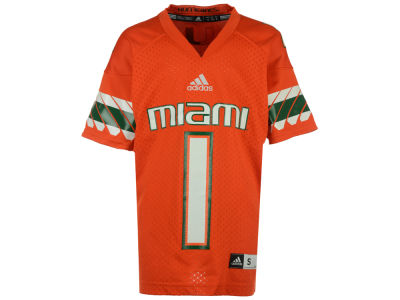 Miami Hurricanes adidas NCAA Youth Replica Football Jersey