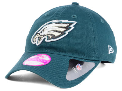 Philadelphia Eagles New Era NFL Women's Team Glisten 9TWENTY Cap
