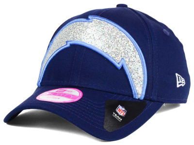 San Diego Chargers New Era NFL Women's Glitter Glam 2.0 9FORTY Cap