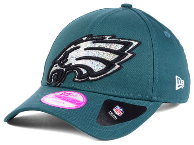 Philadelphia Eagles New Era NFL Women's Glitter Glam 2.0 9FORTY Cap