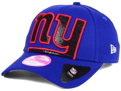 New York Giants New Era NFL Women's Glitter Glam 2.0 9FORTY Cap