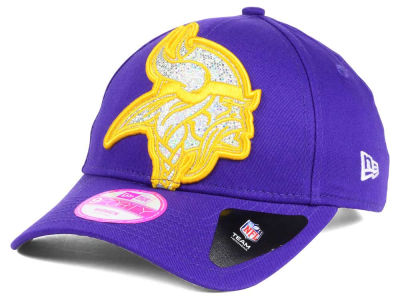 Minnesota Vikings New Era NFL Women's Glitter Glam 2.0 9FORTY Cap