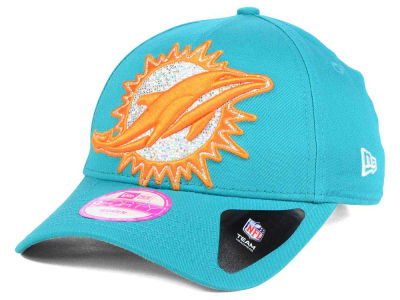 Miami Dolphins New Era NFL Women's Glitter Glam 2.0 9FORTY Cap