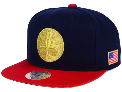 Boston Celtics Mitchell and Ness NBA USA 2 Tone Snapback Cap