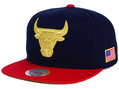 Chicago Bulls Mitchell and Ness NBA USA 2 Tone Snapback Cap