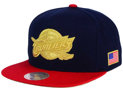 Cleveland Cavaliers Mitchell and Ness NBA USA 2 Tone Snapback Cap