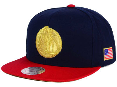 Dallas Mavericks Mitchell and Ness NBA USA 2 Tone Snapback Cap