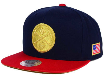 Denver Nuggets Mitchell and Ness NBA USA 2 Tone Snapback Cap