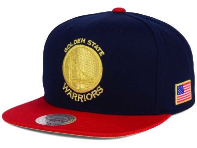 Golden State Warriors Mitchell and Ness NBA USA 2 Tone Snapback Cap