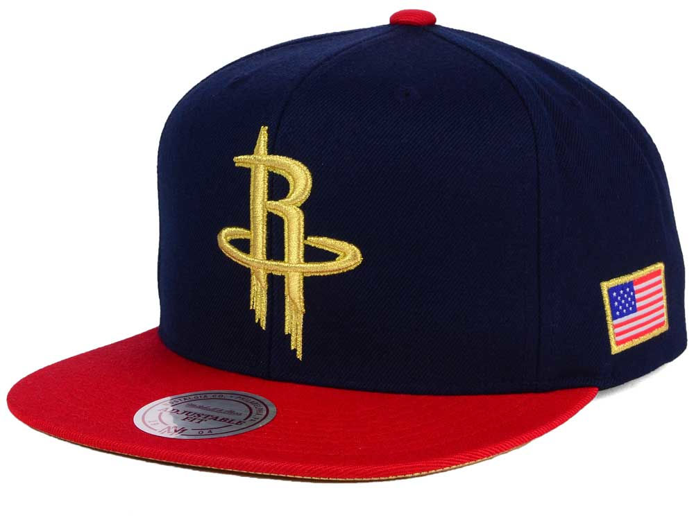 0ce74773b Houston Rockets Mitchell   Ness NBA USA 2 Tone Snapback Cap