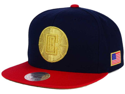 Los Angeles Clippers Mitchell and Ness NBA USA 2 Tone Snapback Cap