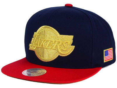 Los Angeles Lakers Mitchell and Ness NBA USA 2 Tone Snapback Cap