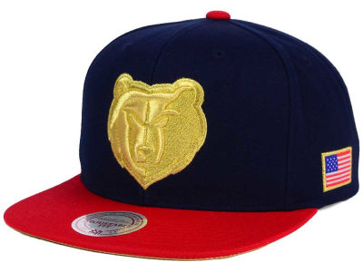 Memphis Grizzlies Mitchell and Ness NBA USA 2 Tone Snapback Cap
