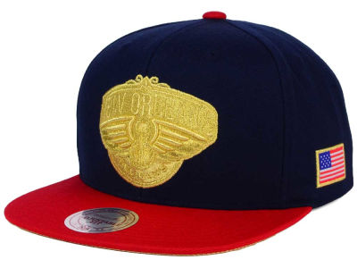 New Orleans Pelicans Mitchell and Ness NBA USA 2 Tone Snapback Cap