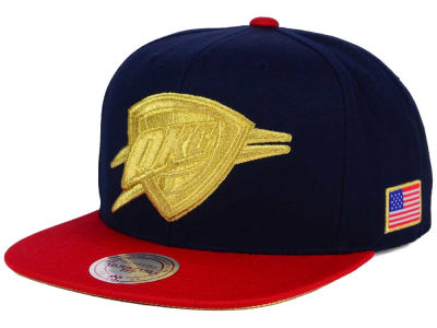 Oklahoma City Thunder Mitchell and Ness NBA USA 2 Tone Snapback Cap