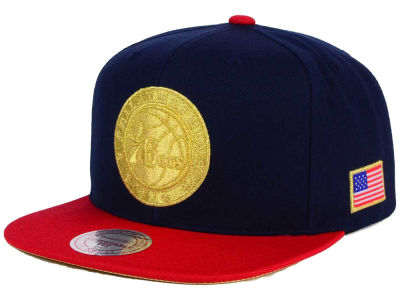 Philadelphia 76ers Mitchell and Ness NBA USA 2 Tone Snapback Cap