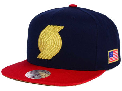 Portland Trail Blazers Mitchell and Ness NBA USA 2 Tone Snapback Cap