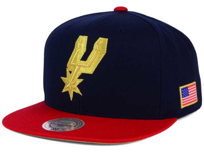 San Antonio Spurs Mitchell and Ness NBA USA 2 Tone Snapback Cap