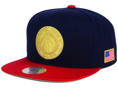 Washington Wizards Mitchell and Ness NBA USA 2 Tone Snapback Cap