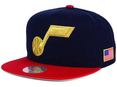 Utah Jazz Mitchell and Ness NBA USA 2 Tone Snapback Cap