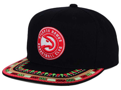 Atlanta Hawks Mitchell and Ness NBA A-Threads Snapback Cap