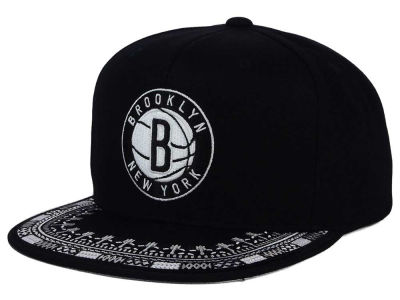 Brooklyn Nets Mitchell and Ness NBA A-Threads Snapback Cap