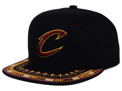 Cleveland Cavaliers Mitchell and Ness NBA A-Threads Snapback Cap