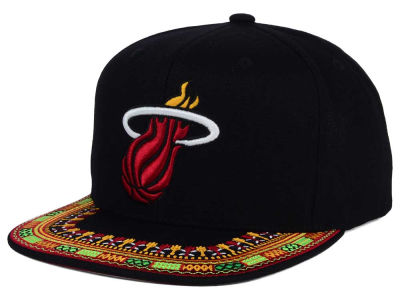Miami Heat Mitchell and Ness NBA A-Threads Snapback Cap