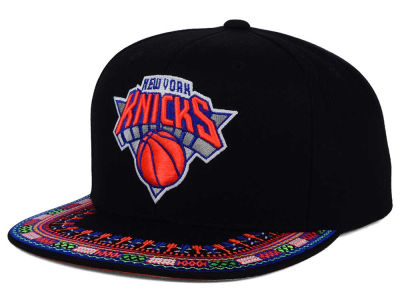 New York Knicks Mitchell and Ness NBA A-Threads Snapback Cap