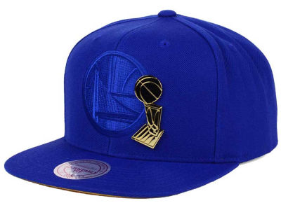 Golden State Warriors Mitchell and Ness NBA Broach Champ Collection Snapback Cap