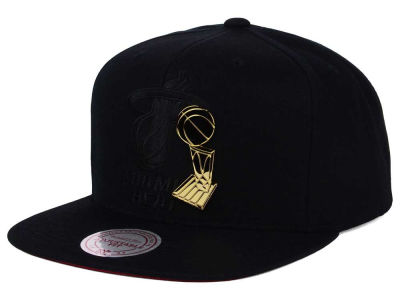 Miami Heat Mitchell and Ness NBA Broach Champ Collection Snapback Cap