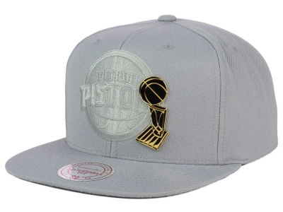 Detroit Pistons Mitchell and Ness NBA Broach Champ Collection Snapback Cap
