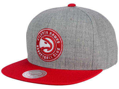 Atlanta Hawks Mitchell and Ness NBA Heather Metallic Snapback Cap