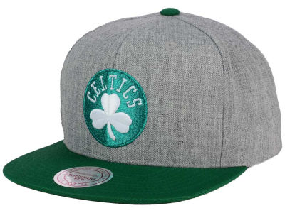 Boston Celtics Mitchell and Ness NBA Heather Metallic Snapback Cap