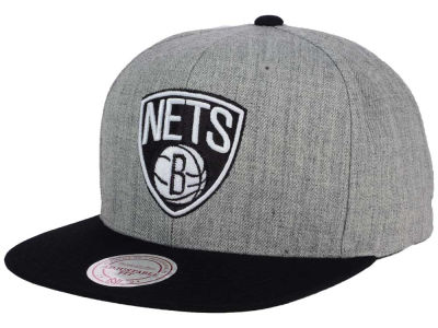 Brooklyn Nets Mitchell and Ness NBA Heather Metallic Snapback Cap