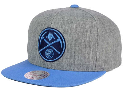 Denver Nuggets Mitchell and Ness NBA Heather Metallic Snapback Cap