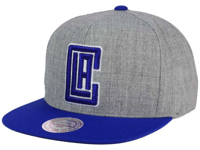 Los Angeles Clippers Mitchell and Ness NBA Heather Metallic Snapback Cap