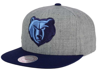 Memphis Grizzlies Mitchell and Ness NBA Heather Metallic Snapback Cap