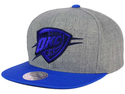 Oklahoma City Thunder Mitchell and Ness NBA Heather Metallic Snapback Cap