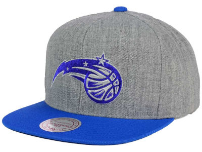 Orlando Magic Mitchell and Ness NBA Heather Metallic Snapback Cap