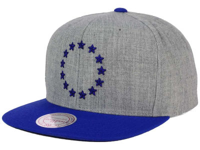 Philadelphia 76ers Mitchell and Ness NBA Heather Metallic Snapback Cap