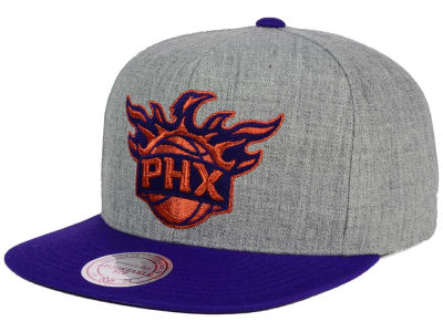 Phoenix Suns Mitchell and Ness NBA Heather Metallic Snapback Cap