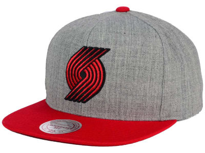 Portland Trail Blazers Mitchell and Ness NBA Heather Metallic Snapback Cap