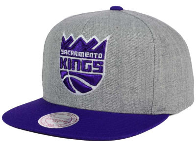 Sacramento Kings Mitchell and Ness NBA Heather Metallic Snapback Cap
