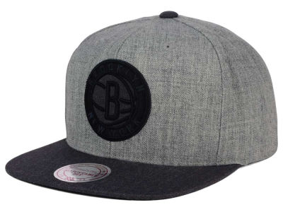 Brooklyn Nets Mitchell and Ness NBA Double Heather Snapback Cap
