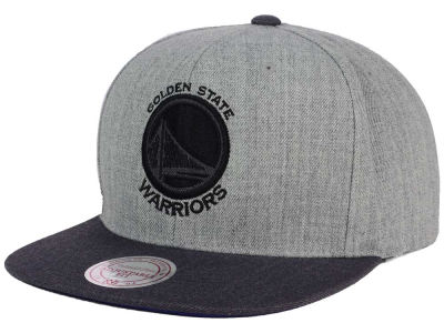 Golden State Warriors Mitchell and Ness NBA Double Heather Snapback Cap